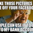 Kai močiutė susikuria facebook'ą